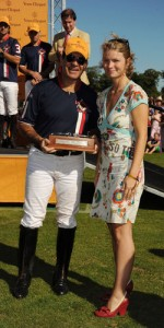 Victor Vargas, left, wins a polo trophy in the U.K. Photographer: Dave M. Benett/Getty Images