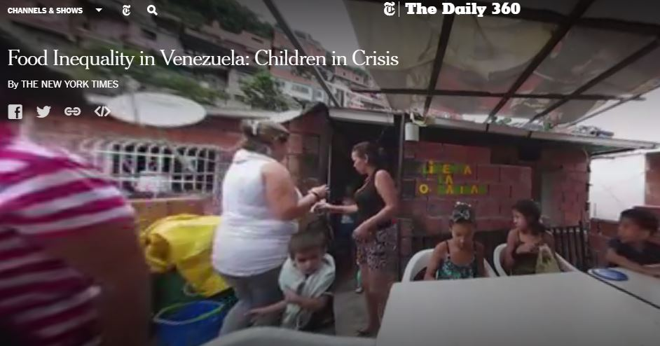Food inequality in Venezuela: Children in crisis