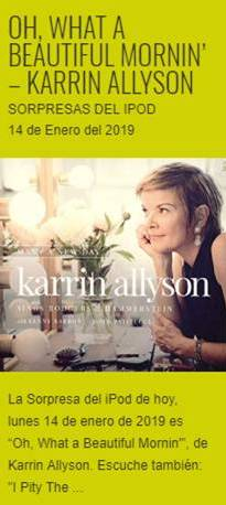 """Oh, What A Beautiful Mornin'"", de Karrin Allyson – Sorpresas del iPod"