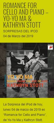 """Romance For Cello And Piano"", de Yo-Yo Ma & Kathryn Stott – Sorpresas del iPod"